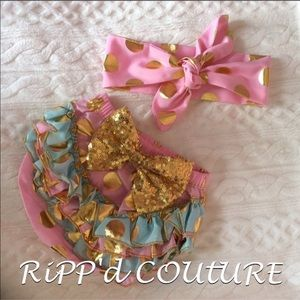 Other - 🆕2 pc bloomer set with matching bow